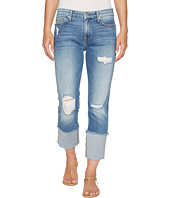 7 For All Mankind - Fashion Boyfriend Jeans w/ Wide Raw Cuff & Destroy in Vintage Air Classic 3
