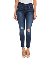 7 For All Mankind - High Waist Ankle Skinny Jeans w/ Squiggle & Destroy in Heritage Night