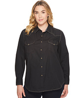 Roper - Plus Size 1273 Solid Poplin - Black