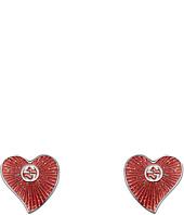 Gucci - Enameled Heart Earrings