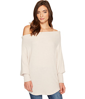 Culture Phit - Lottie Long Sleeve Off the Shoulder Waffle Top