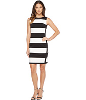 Calvin Klein - Stripe Ponte Sheath Dress
