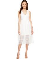 Adrianna Papell - Lace Tea Length A-Line Dress