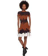 YIGAL AZROUËL - Geometric Pleated Chennile Dress