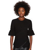 YIGAL AZROUËL - Smoked Sleeve Crepe Top