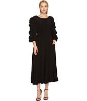 Sonia Rykiel - Crepe De Chine & Volants Dress
