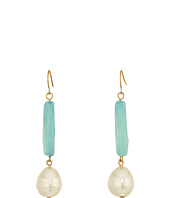 LAUREN Ralph Lauren - Linear Bead with Pearl Teardrop Earrings