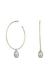 LAUREN Ralph Lauren - Hoop with Fresh Water Pearl Drop Earrings