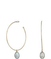LAUREN Ralph Lauren - Hoop with Fresh Water Pearl Drop Earrings