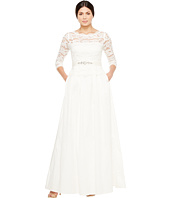 Adrianna Papell - Lace and Taffeta Ball Gown