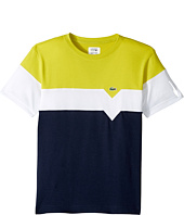 Lacoste Kids - Short Sleeve Color Block T-Shirt (Little Kids/Big Kids)