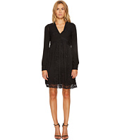 Manila Grace - Long Sleeve V-Neck Dress