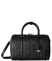 MCM - Essential Monogrammed Leather Medium Boston