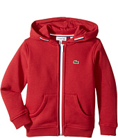Lacoste Kids - Full Zip Fleece Hoodie (Toddler/Little Kids/Big Kids)
