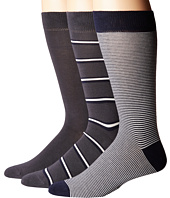 Lacoste - 3-Pack Striped Jersey Cotton Blend Socks