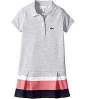 Lacoste Kids - Short Sleeve Pleated Bottom Dress (Toddler/Little Kids/Big Kids)