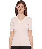Ivanka Trump - Short Sleeve Sweater with Chain