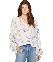 Free People - Metallic Blooms Top