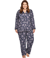 LAUREN Ralph Lauren - Plus Size Classic Woven Notch Collar PJ