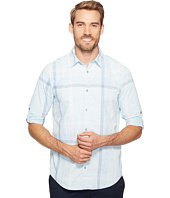 Calvin Klein Jeans - Blotch Print Exploded Plaid Roll-Tab Button Down