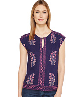 Lucky Brand - Wood Block Floral Top