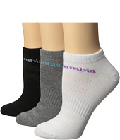Columbia - Basic Flat Knit Socks No Show 3-Pack