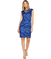 Adrianna Papell - Sequin Lace Cap Sleeve Sheath Dress