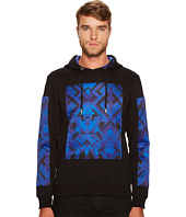 Versace Jeans - Printed Patch Hooded Neoprene Sweatshirt