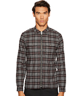 The Kooples - Shirt with Officer Collar Placket Piping Elbow Pads