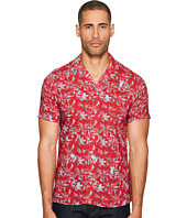 The Kooples - Short Sleeve Print Shirt with A Hawaiian Collar