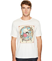 The Kooples - Round-Collar T-Shirt with Silk-Screen Finish