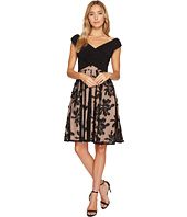 Adrianna Papell - Portrait Bodice Fit and Flare Dress