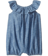Ralph Lauren Baby - Chambray Ruffle Bubble Shortalls (Infant)