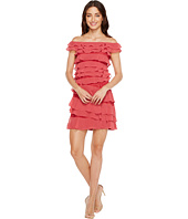 Adrianna Papell - Cynthia Lace Off the Shoulder Tiered Dress