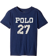 Polo Ralph Lauren Kids - 30/1 Slub Jersey Short Sleeve Crew Neck 2 Top (Toddler)