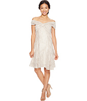Tahari by ASL Petite - Petite Wrap Bodice Lace Dress