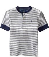 Polo Ralph Lauren Kids - Yarn-Dyed Slub Jersey Short Sleeve Henley Top (Toddler)