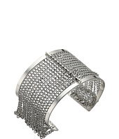 Steve Madden - Cut Out Open Cuff Bracelet with Chain Bangle