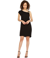 HEATHER - Bette Asymmetrical Shoulder Tie Dress