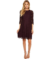 Vince Camuto - Lace Three Quarter Sleeve Fit & Flare Dress