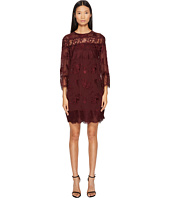 The Kooples - Dress in Embroidered Fabric with Lace