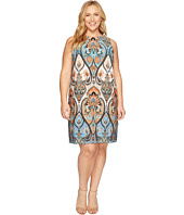 London Times - Plus Size Star Paisley Sleeveless Shift