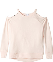 Splendid Littles - Grommet Cold Shoulder Sweatshirt (Big Kids)