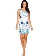 Sangria - Sleeveless Printed Sheath