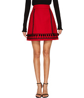 Kate Spade New York - Pom Embroidered Skirt