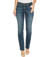 NYDJ - Parker Slim Jeans w/ Knee Slit in Crosshatch Denim in Desert Gold