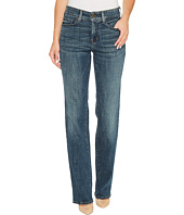 NYDJ - Marilyn Straight Jeans in Crosshatch Denim in Desert Gold