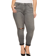 NYDJ Plus Size - Plus Size Girlfriend Jeans with Knee Slit in Future Fit Denim in Alchemy
