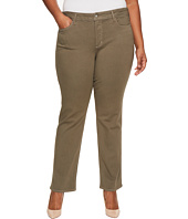 NYDJ Plus Size - Plus Size Marilyn Straight in Luxury Touch Denim in Fatigue