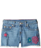 True Religion Kids - Bobby Patched Raw Edge Shorts in Sail Away (Big Kids)